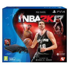 Consola PS4 500GB,  NBA2K17 y 2 mandos